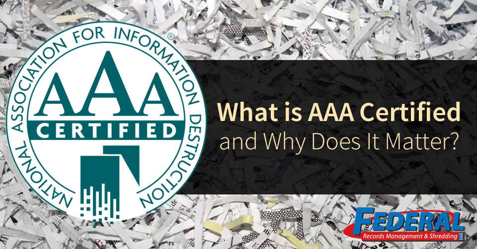 AAA certified shredding company in fort wayne